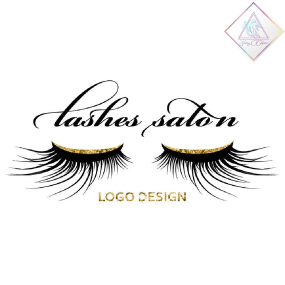 Lashes logo design in png and pdf format beauty salon | Etsy