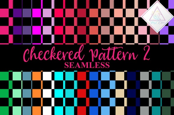 Black Checkers Seamless Patterns Digital Paper Chess Board Checker Pattern Checkerboard Pink Racing Cars Dark Check Squares Squared By Fantasy Cliparts Catch My Party