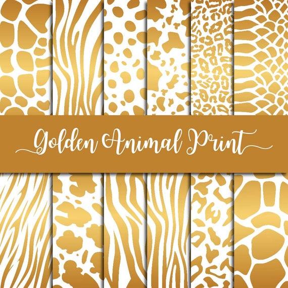 Gold animal print fbea49ea3