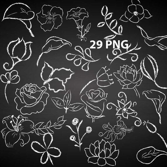 Chalkboard Wedding Clipart CHALKBOARD FLOWER clip | Etsy | Chalkboard  flowers, Banner clip art, Clip art