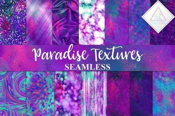 Paradise Textures Pink Backgrounds Seamless Patterns Digital Paper Colorful Marble Purple Foils Blue Teal Wood Glitter Sequin Abstra By Fantasy Cliparts Catch My Party
