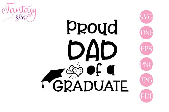 proud mom of a graduate family cliparts svg cut files cutting