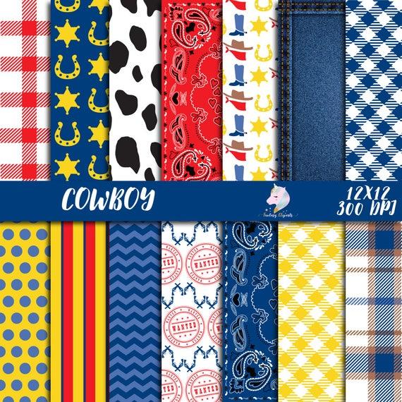 Cowboy Scrapbook Papers /& Stickers 12x12 Set
