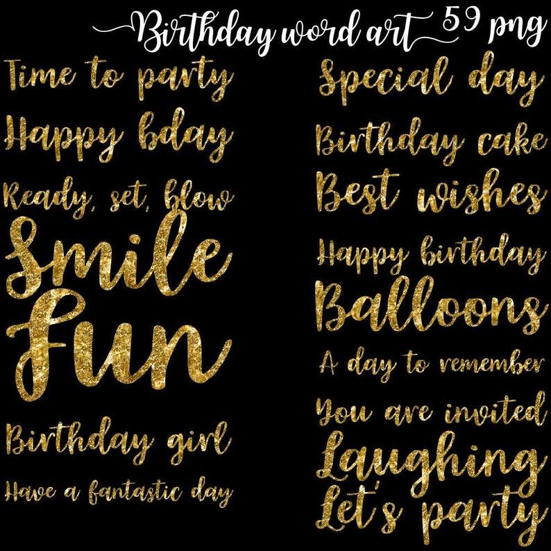 Birthday Word Art Birthday Wishes Word Common Phrases Etsy