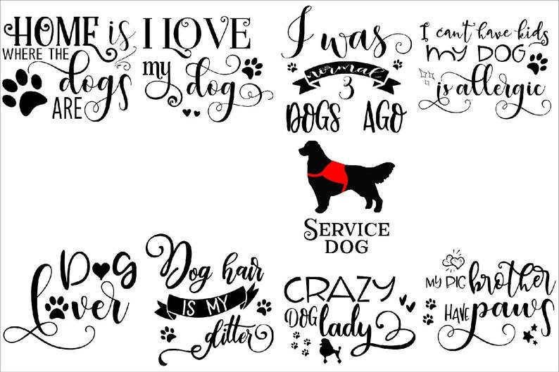 Download Dog bundle svg cut files cricut silhouette cameo pet | Etsy