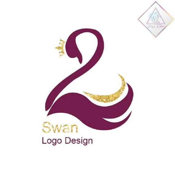 Premade Swan Logo Design In Png And Pdf Format Feminine