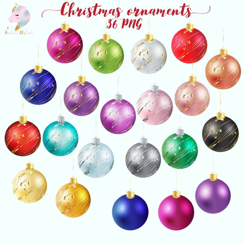 Christmas Ornaments Christmas Clipart Xmas Balls Clip Art Holiday Decoration Winter Decor Png Festive Graphics Merry Christmas New Ye
