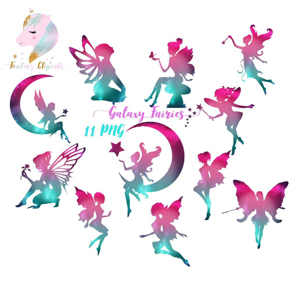 Galaxy Fairies Fairy Clipart Cosmic Clip Art Rainbow Fairy