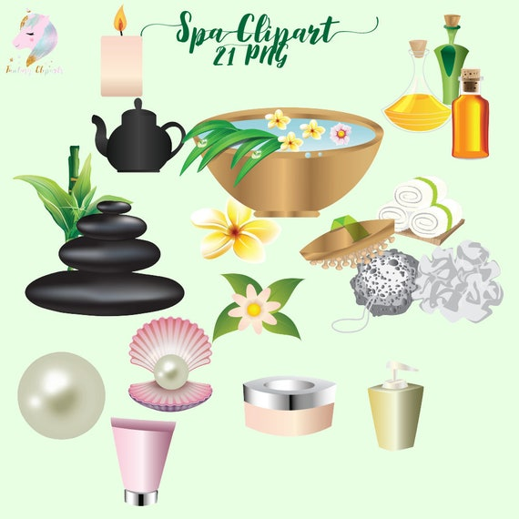 beauty spa clip art in png format made by fantasy cliparts green