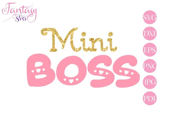 Mini Boss Svg File Cut Cutting Files Little Princess Dxf Newborn Baby Girl Cute Girly Font Eps Vector Hearts Mug Heat Transfer Press By Fantasy Cliparts Catch My Party