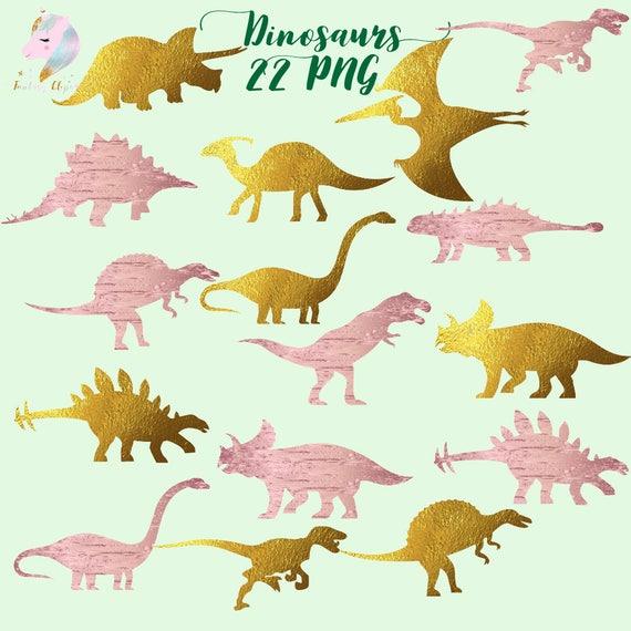 Dinosaur Clipart Gold Foil Dino Rose Gold Dinosaurs Dinosaur Clip