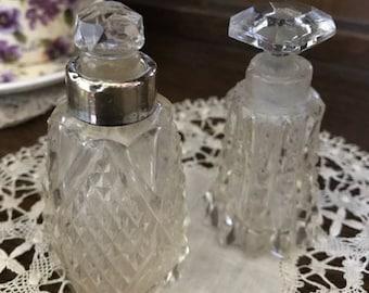 1930's perfume bottles set of two