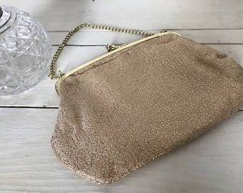 1960's gold sparkly evening bag