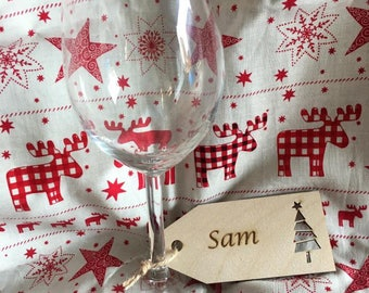 Name place settings, Christmas name tags