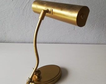 JAHN piano lamp - full made of brass - 60s - German lighting