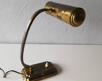 50s piano lamp - full made of brass - German lighting