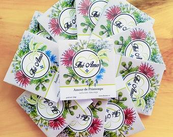 Thé Amo Tea Samplers, Tea Tasters, Loose leaf tea, Variety of herbal teas to choose from, Great gift ideas and stocking stuffers