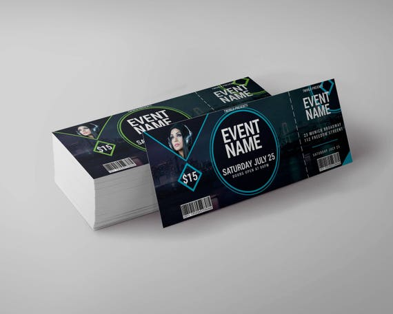 event tickets design editable concert ticket party club etsy