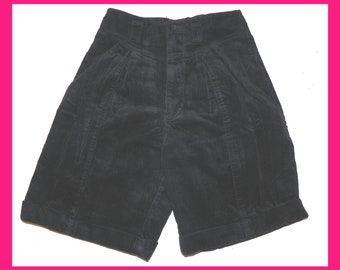 ee536a6c435c VINTAGE 80s Black SHORTS Cords Pants Trousers by JORDACHE Rare Retro Pants