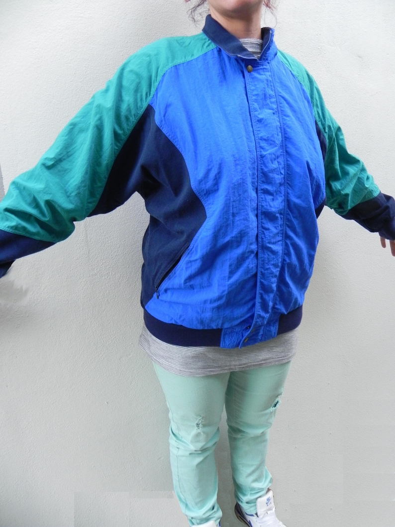Batwing Adidas Jacket Shell Vintage Colorblock Windbreaker Top Rare 80s Suit Tracksuit WD2IE9H