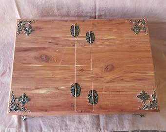 Handmade Picnic Basket Jewelry Box