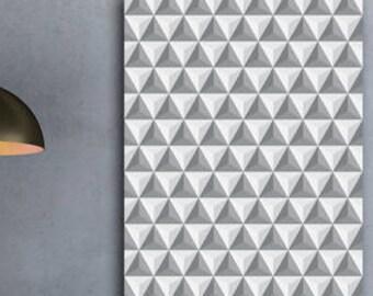 Poster Scandinavian triangle pyramid illusion 3d optical instant download A1 A2 A3 A4 A5 16 x 20 18 x 24 24 x 36 50 x 70 60 x 90 + US sizes