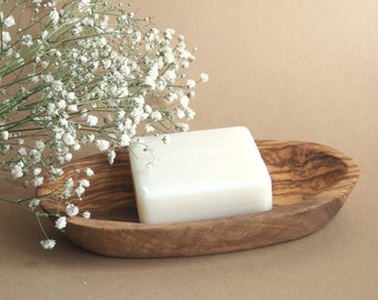 Olive Wood Rustic Soap Dish / Bathroom Soap Holder / Wedding Gift / Baby Shower Gift