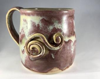 16 oz Handmade Pottery Mug, Clay Mug, Stoneware Mug, Handmade Mug, Pottery Coffee Mug, Handmade Coffee Mug, Coffee Cup, Stoneware Coffee Cup
