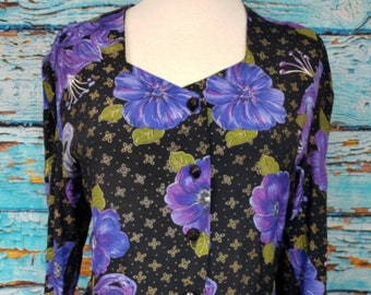 80s double frill peplum blouse, size 14