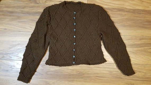 Pretty 40s handknitted cardigan, size 6 to 8.