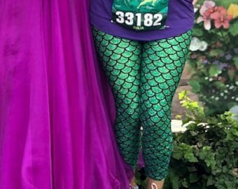 222088cd470e34 Mermaid Leggings, Women's Leggings, Tights, Yoga Pants, Leggings Pattern,  FiftyShadesOfFit Designer Pant, High Waist