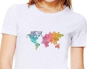 Rainbow Map Shirt