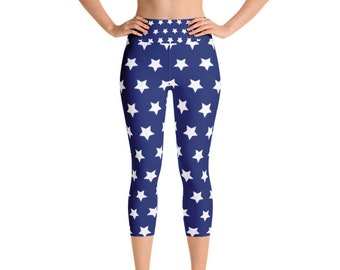 CLEARANCE, 4th July Yoga Capris size Small Only ONE, Ready to be Shipped