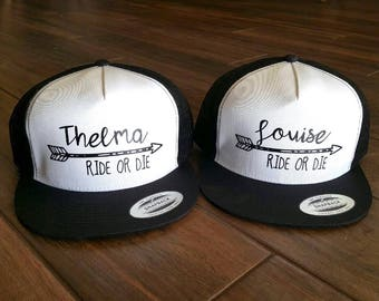 Best Friend Thelma and Louise  Ride or Die Hat Set