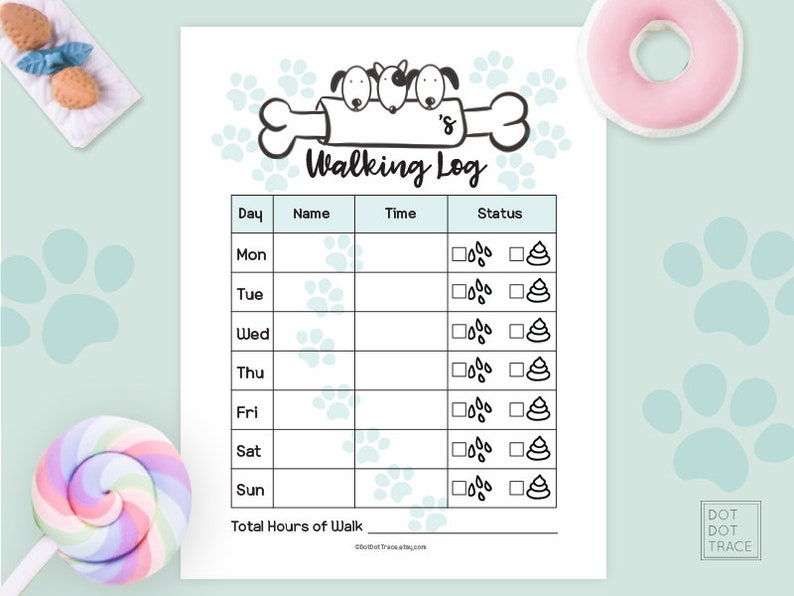 picture about Printable Walking Log known as Printable Doggy Going for walks Log Printable Family members Pet Waking Timetable Puppy Strolling Log Puppy Strolling Tracker Doggy Bodyweight Reduction Planner Puppy Health and fitness Software