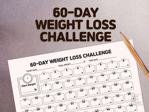 60 Day Weight Loss Challenge 60 Day Weight Loss Tracker Monthly Weight Loss Chart 2 Monthweight Loss Challenge Printable Weight Loss Planner