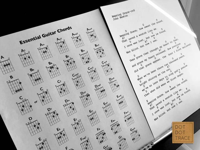 Printable Essential Guitar Chord Chart Basic Guitar Chords Beginner's  Guitar Chords Important Guitar Chords Guitar Chords Printable PDF Down