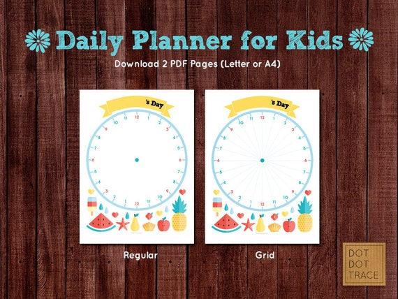 printable daily planner for kids summer break planner for kids etsy