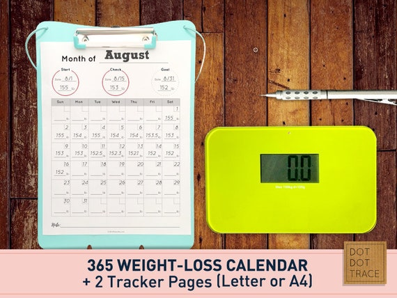 photo regarding Printable Weight Loss Calendars identified as Printable 365 Pounds reduction calendar 365 bodyweight-decline calendar Excess weight reduction tracker body weight decline planner PDF Down load eating plan calendar diet regime planner