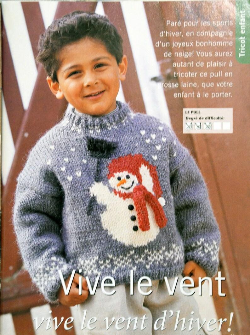 94442aa1d99bc Tutoriel pull enfant bonhomme de neige tuto tricot pull