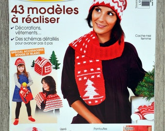Magazine easy Creations crochet - red and white