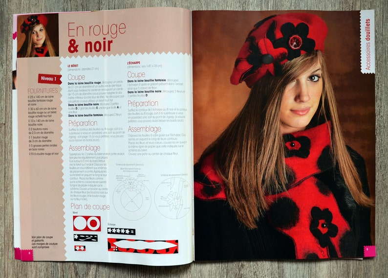sewing magazine sewing bag technical sewing plaid hat sewing pattern hat Magazine sewing is easy 3 sewing pattern