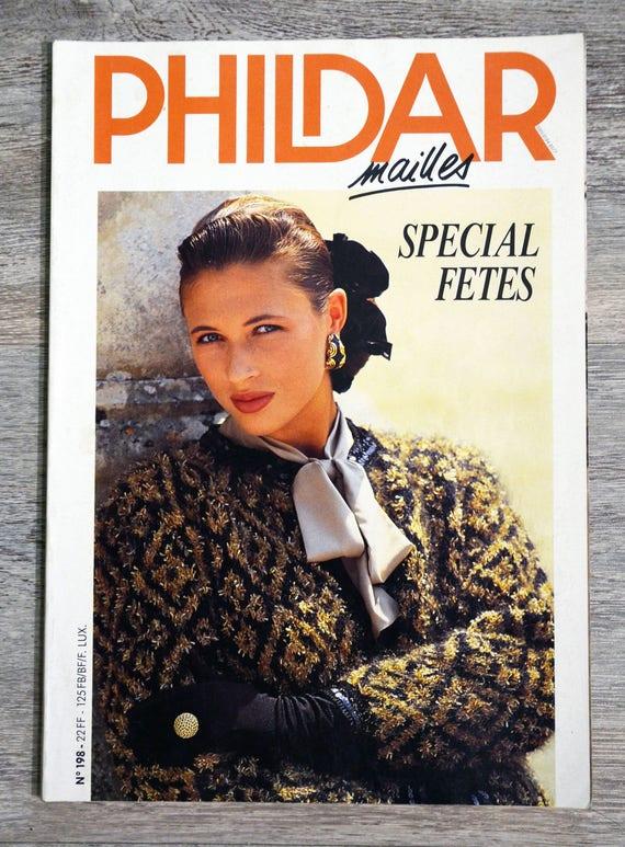 plutôt cool professionnel de premier plan meilleur en ligne Magazine Phildar mailles 198 / Spécial fêtes, catalogue Phildar, magazine  tricot, catalogue tricot, pulls de fête, tricot vintage