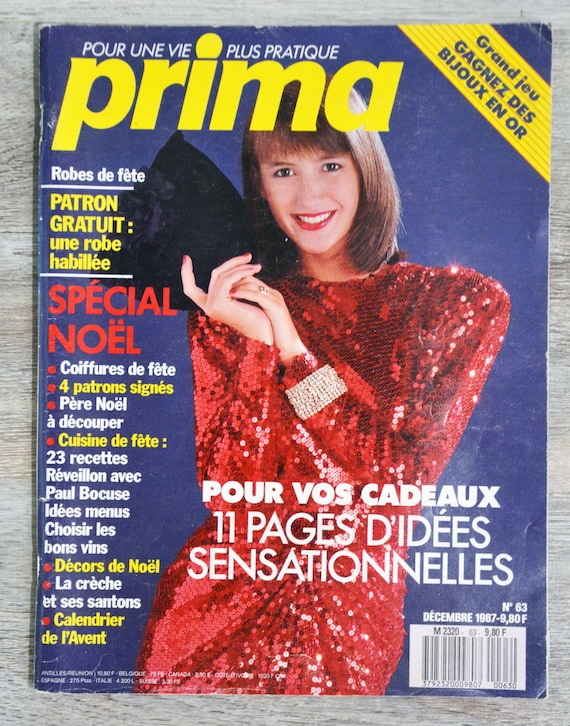 Magazine Prima 63 December 1987 With Super Boss Boss Sewing Etsy