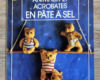 Book animals and acrobats salt dough