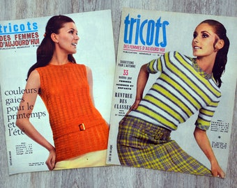 Set of 2 magazines knitwear women of today (Vintage)