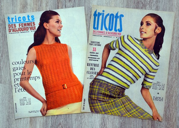 Set Of 2 Magazines Knitwear Women Of Today Vintage Etsy