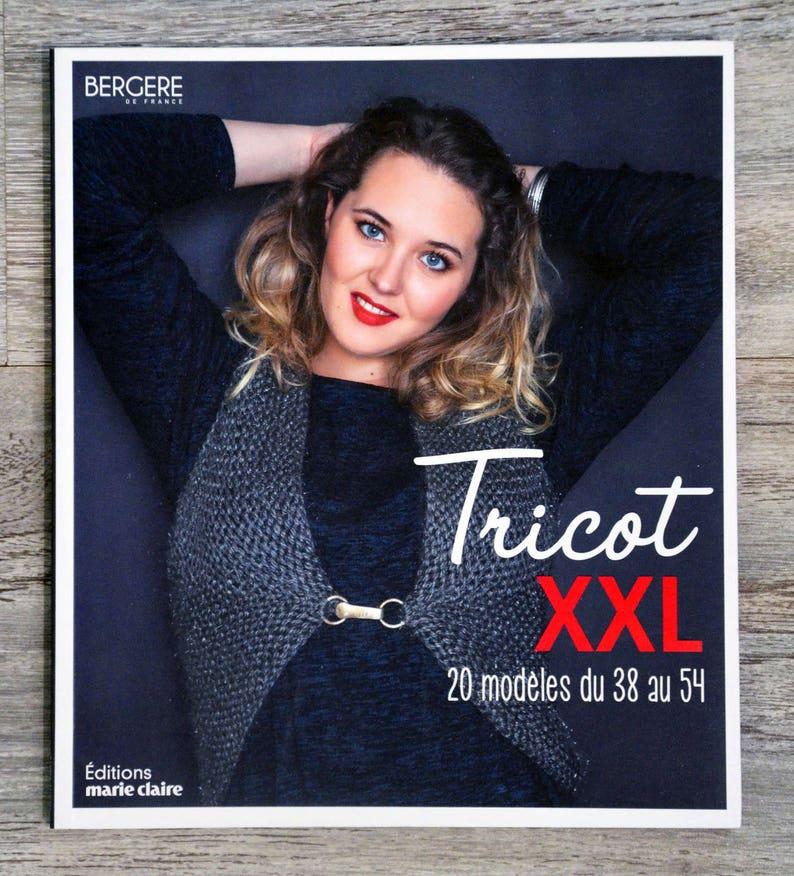 Neuf Livre Tricot Xxl 20 Modeles Du 38 Au 54
