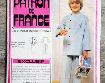 France 2332 pattern - child Pajamas (Vintage) Pocket