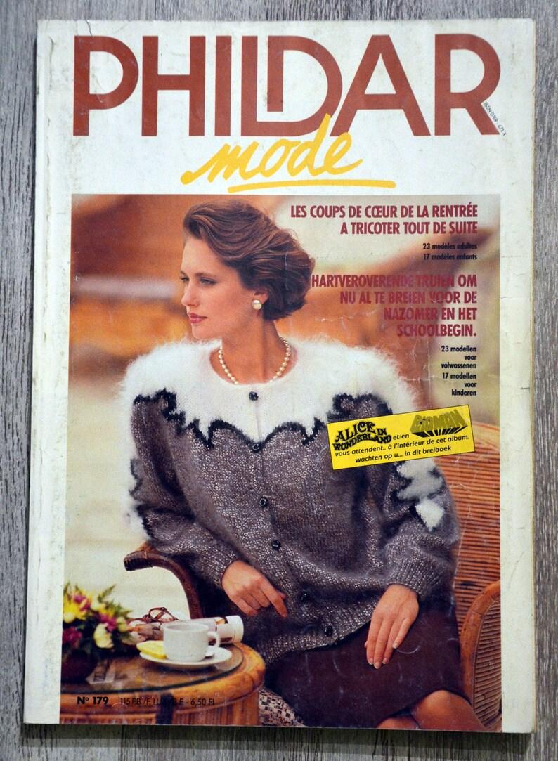 meilleur pas cher nouvelles images de personnalisé Magazine Phildar Mailles 179, catalogue Phildar, catalogue tricot, tricot  vintage, tricot femme, tricot hiver, tricot enfant, pull enfant